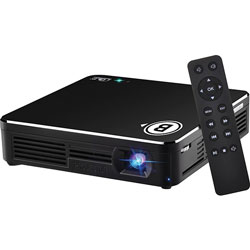 Business Source DLP LED Projector, 80 Lumens, 4 inWx4 inL, Black