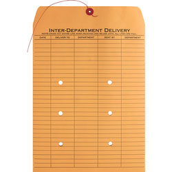 """Business Source Envelopes, Interdepartmental, Two-sided, 10"""" x 13"""", Kraft"""