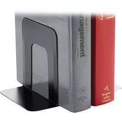 "Business Source Bookend Supports, Standard, 4-9/10"" x 5-7/10"" 5-3/10"", Black"