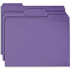 Business Source Color File Folder, 1/3 Cut, 100/BX, Purple