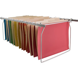 Business Source Hanging File Folder Frames, Letter, Stainless Steel
