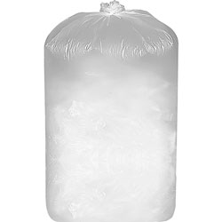 Business Source Shredder Bags, 12 Microns, 28 inx22 inx48 in, 56 Gal, 100/PK,White