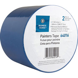 Business Source Painters Tape, Multisurface, 2 inx60 Yards, 2 Roll/PK, Blue