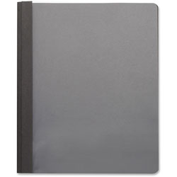 Business Source Report Cover, Clear Front, Letter, 100 Sheet Cap, 25/BX, LTH/BK