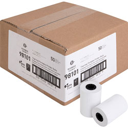 Business Source Thermal Roll, 2-1/4 in x 55', 50RL/CT, White