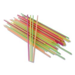 Berkley Square Neon Sip Sticks, 5.5 in, Assorted, 1,000/Pack