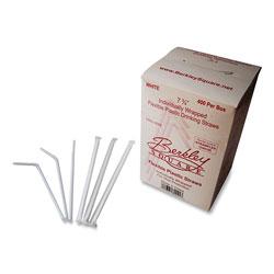 Berkley Square Individually Wrapped Straws, 7.75 in, White, 400/Box