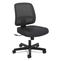 Hon ValuTask Mesh Back Task Chair, Supports up to 250 lbs., Black Seat/Black Back, Black Base