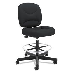 Hon VL215 Task Stool, Supports up to 250 lbs., Black Seat/Black Back, Black Base