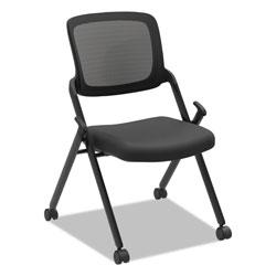 Hon VL304 Mesh Back Nesting Chair, Black Seat/Black Back, Black Base