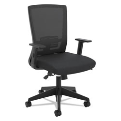 Basyx by Hon VL541 Mesh High-Back Task Chair, Supports up to 250 lbs., Black Seat/Black Back, Black Base