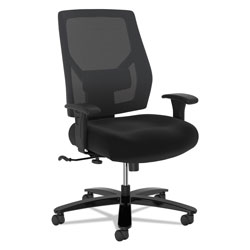 Hon Crio Big and Tall Mid-Back Task Chair, Supports up to 450 lbs., Black Seat/Black Back, Black Base