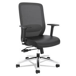 Basyx by Hon Exposure Mesh High-Back Task Chair, Supports up to 250 lbs., Black Seat/Black Back, Black Base