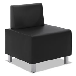 Basyx by Hon HVL860 Series Modular Chair, 25 in x 25 in x 30.88 in, Black Seat/Black Back, Silver Base