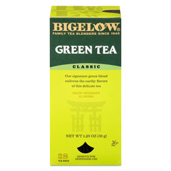 Bigelow Tea Company Single Flavor Tea, Green, 28 Bags/Box