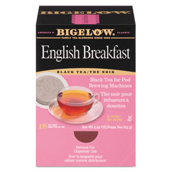 Bigelow Tea Company English Breakfast Tea Pods, 1.90 oz, 18/Box