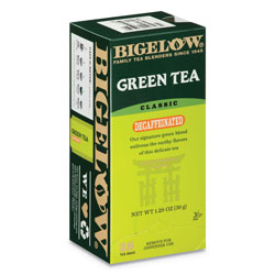 Bigelow Tea Company Decaffeinated Green Tea, Green Decaf, 0.34 lbs, 28/Box