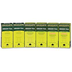 Bigelow Tea Company Three Flavor Green Tea Assortment, Box, 168/Carton
