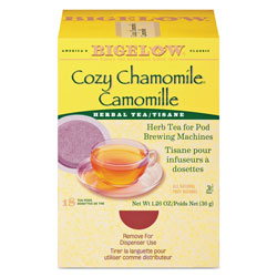 Bigelow Tea Company Cozy Chamomile Herbal Tea Pods, 1.90 oz, 18/Box