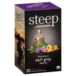 Bigelow Tea Company steep Tea, Earl Grey, 1.28 oz Tea Bag, 20/Box
