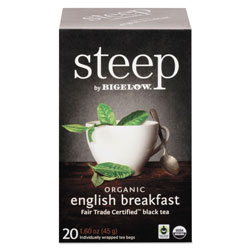 Bigelow Tea Company steep Tea, English Breakfast, 1.6 oz Tea Bag, 20/Box