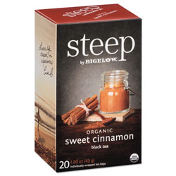 Bigelow Tea Company steep Tea, Sweet Cinnamon Black Tea, 1.6 oz Tea Bag, 20/Box