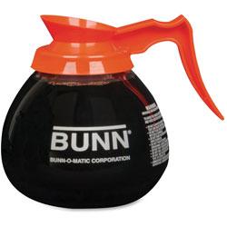 Bunn 12 Cup Decaffeinated Decanter, Clear/Orange