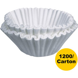 Bunn Coffee Filters, 9-3/4 in x 4-1/4 in, 1200/CT, White
