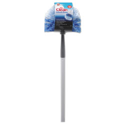 Mr. Clean Telescopic Cobweb Duster, Blue/White, 11 in Brush, 60 in Handle