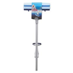 Mr. Clean Heavy Duty Roller Mop, 45 in Handle, 10 1/2 x 3 Head, White/Blue