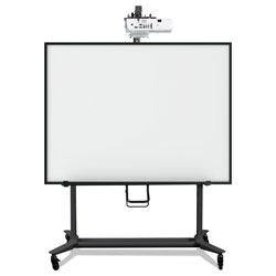 MasterVision™ Interactive Board Mobile Stand With Projector Arm, 76w x 26d x 80h, Black