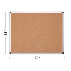 MasterVision™ Value Cork Bulletin Board with Aluminum Frame, 48 x 72, Natural