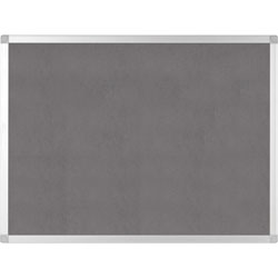 MasterVision™ Bulletin Board, Gray Fabric, 24 inWx36 inLx1/2 inH, Gray