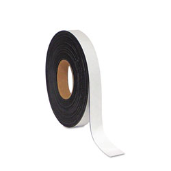 MasterVision™ Dry Erase Magnetic Tape Roll, White, 1 in x 50 Ft.