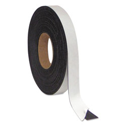 MasterVision™ Magnetic Adhesive Tape Roll, Black, 1 in x 50 Ft.