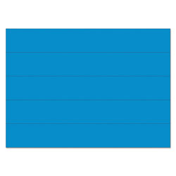 MasterVision™ Dry Erase Magnetic Tape Strips, Blue, 6 in x 7/8 in, 25/Pack