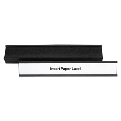 MasterVision™ Magnetic Card Holders, 6 inw x 1 inh, Black, 10/Pack