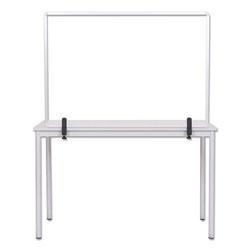Bi-silque Visual Communication Product Inc Protector Series Glass Aluminum Desktop Divider, 35.4 x 0.16 x 23.6, Clear