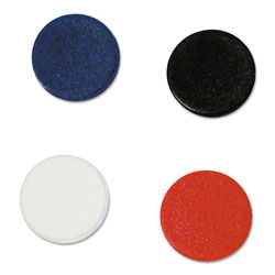 MasterVision™ Interchangeable Magnetic Board Accessories, Circles, Assorted, 3/4 in, 10/Pack