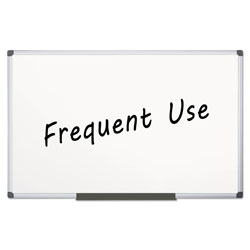 MasterVision™ Value Lacquered Steel Magnetic Dry Erase Board, 48 x 96, White, Aluminum Frame