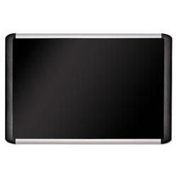 MasterVision™ Black fabric bulletin board, 48 x 72, Silver/Black