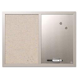 MasterVision™ Combo Bulletin Board, Bulletin/Dry Erase, 24X18, Gray Frame