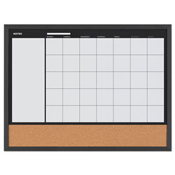 MasterVision™ 3-In-1 Combo Planner, 24.21 in x 17.72 in, White, MDF Frame