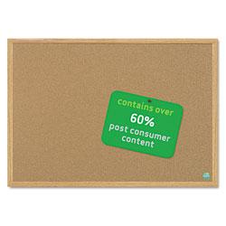 MasterVision™ Earth Cork Board, 24 x 36, Wood Frame