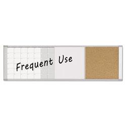 MasterVision™ Magnetic Calendar Combo Board, 48 x 18, Aluminum Frame