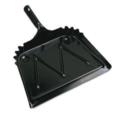 Boardwalk Metal Dust Pan, 12 in Wide, 2 in Handle, Black
