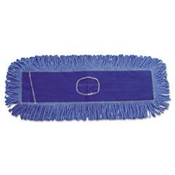 Boardwalk Mop Head, Dust, Looped-End, Cotton/Synthetic Fibers, 18 x 5, Blue