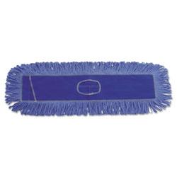 Boardwalk Dust Mop Head, Cotton/Synthetic Blend, 36 x 5, Looped-End, Blue
