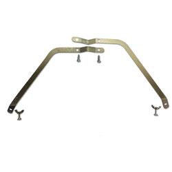 Boardwalk Metal Handle Braces, Large, Fits 24 in to 48 in Floor Sweeps, 0.5w x 12h