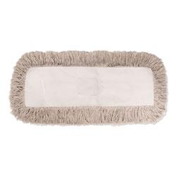 Boardwalk Industrial Dust Mop Head, Hygrade Cotton, 18w x 5d, White